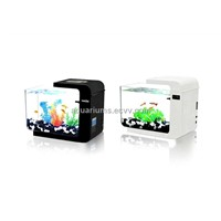 Acrylic Mini Aquarium MA-0200 (black & White)