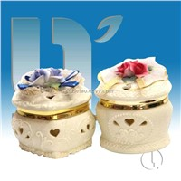 Beautiful ceramic jewelry box