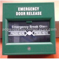 Break glass fire emergency door release