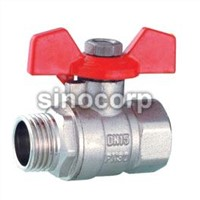 Double Male Brass Ball Valve