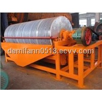 Drum permanent magnetic separator for hemitite ore