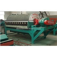 Drum permanent magnetic separator for iron ore