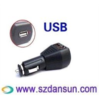 Dual Color Indication MP3 / MP4 Usb Car Charger Adaptor For England Plug