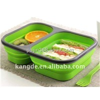Durable and high quality silicone collape lunch box
