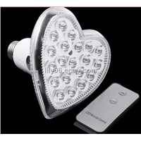 E27 20 LED Heart shaped Remote Control LED Light Emergency Bulb Lamp