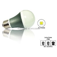 Energy saving E27/ E26 led 5000k-6500k global round bulbs 3W
