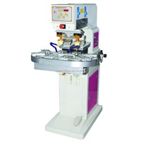 F-P150C2 two color pad printing machine with conveyor