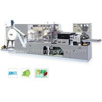 Full Automatic 1-2 Pieces Per Package Wet Tissue Machine DC-WT-1-2P