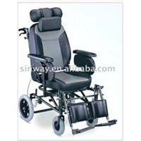 Fully reclining manual wheelchairs