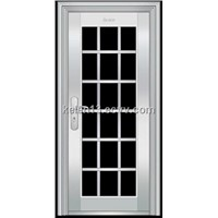 Glass steel door