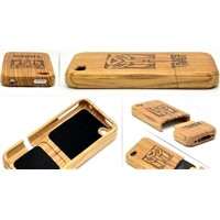 Hand make bamboo case for iphone 4g and 4s