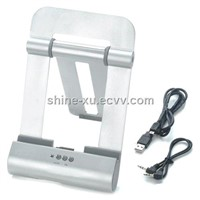 IPad3/IPad2/IPhone metal folding speaker stand
