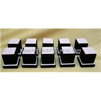 Jewelry display ring tower display kit of 10 white and black