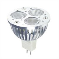 LED spotlight bulb with 3W power, 240-260lm, 2700k-6000k luminous flux, various base availabe