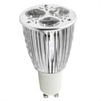 LED spotlight with 6W power, MR16/GU10/E26/E27 base availabe, 2700k-5500k, 35 viewing angle