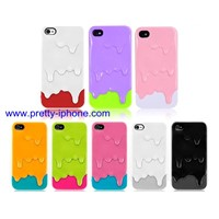 Melt Ice cream case for Apple Iphone 4G 4S plastic hard protector