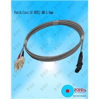 Multi-mode Duplex SC to MTRJ Fiber Optic Patch Cord