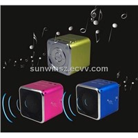Music Angel Mini Portable FM Music Player Speaker TF/SD Card MD06