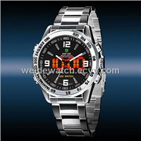 New WEIDE Luxury Date Day Analog Red LED Display Men's Sports Quartz Wrist Army Watch