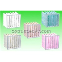 Non-woven electrostatic pocket filters