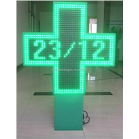 Outdoor LED Pharmacy Cross Display