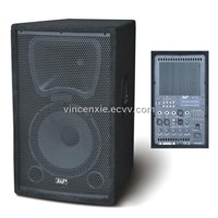 PA Loudspeaker system active speaker box with wooden cabinet