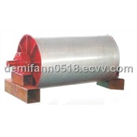 Permanent magnetic pulley for iron ore
