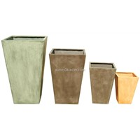 Plain square flower pot(SFT8003)