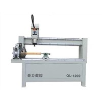 QL-1200 CNC router machine with rotary