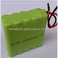 Rechargeable 12V 800mah AAA NI-MH battery Pack