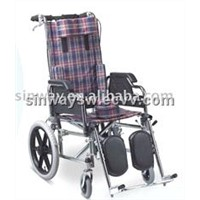 Reclining wheel chair