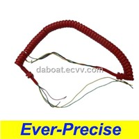 Red Telephone Cord/ Spiral Telephone Cable