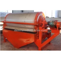 Rotary drum magnetic separator for iron ore