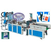 SHXJ-E700 full automatic T-shirt hot-sealing cold cutting bag making machine