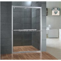 Shower door with frame two sliding door 8mm tempered