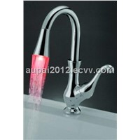 Single Handle Chrome LED Faucet For Basin/Sink (L-8205)