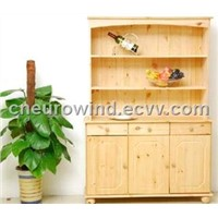 Solid Pine Wood Kitchen Cabinet Design Sideboard and Hutch