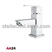 Stainless Steel Square Basin Mixer / Faucet