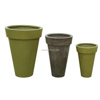 Tall round flower pot(SFT8002)