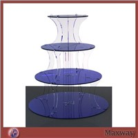 Thickening 4-Tier Colored Acrylic Cake Shelf/Lucite Cake