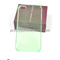 Transparent Plastic case for iPhone4-Light Green