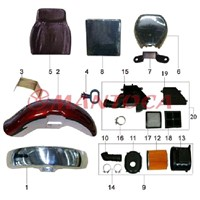 Tricycle parts-Seat ,fender and air filter