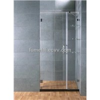 "UNIDOOR 46"" - 47"" FRAMELESS PIVOT SHOWER DOOR 3/8"" GLASS CUSTOM SIZE"