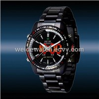 WEIDE Luxury Date Analog LED Display Men's Sports Quartz Wrist Army Watch