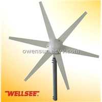 WELLSEE 6 leaves Wind Turbine/ A horizontal axis wind turbine