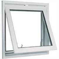 White 1.6mm profile thicknes powder coated aluminum awning windows for commercial building