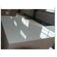 White glossy HPL plywood