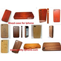 Wooden case/pretective for iphone4/4s ebony wood