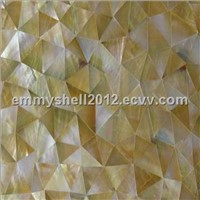 Yellowlip Shell Tiles with irregular triangle for  bathroom tile