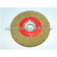 abrasive circular steel round wire brush